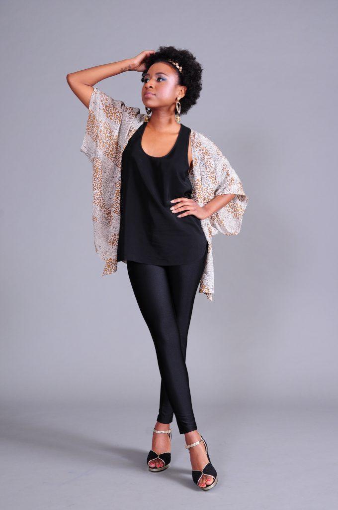 black woman wearing a kimono
