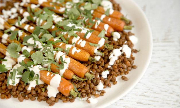 Yummy Spiced Lentil and Carrot Salad