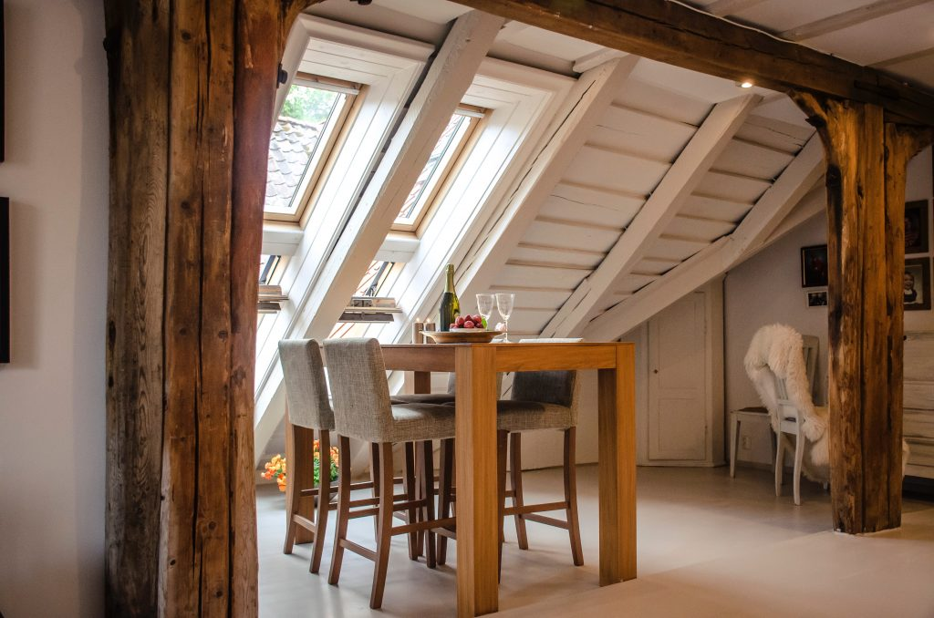 dining table in attic