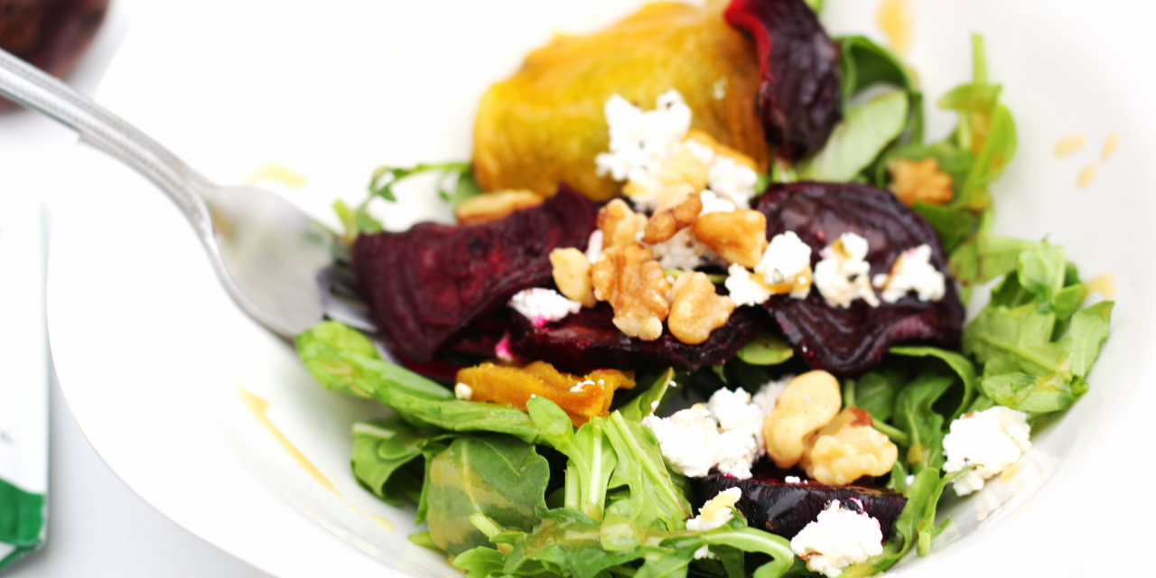 Simple Plates | Local Goat Cheese and Beet Salad