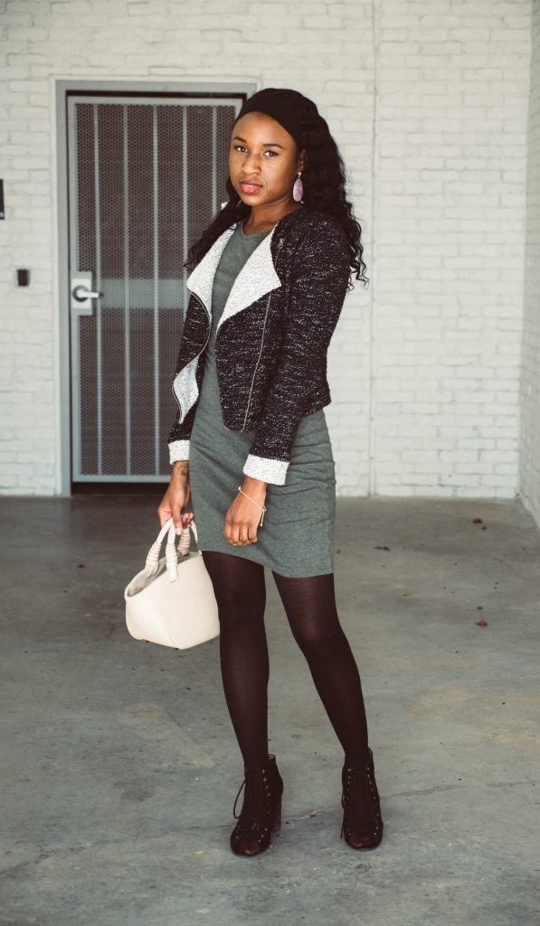 black woman wearing black blazer