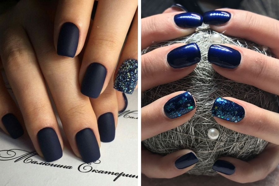 navy colored nails