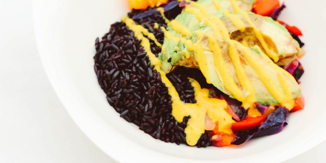 Simple Plates | Vegan Forbidden Rice Bowl