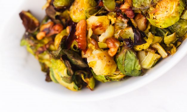 Simple Plates | Honey Roasted Brussel Sprouts with Walnuts