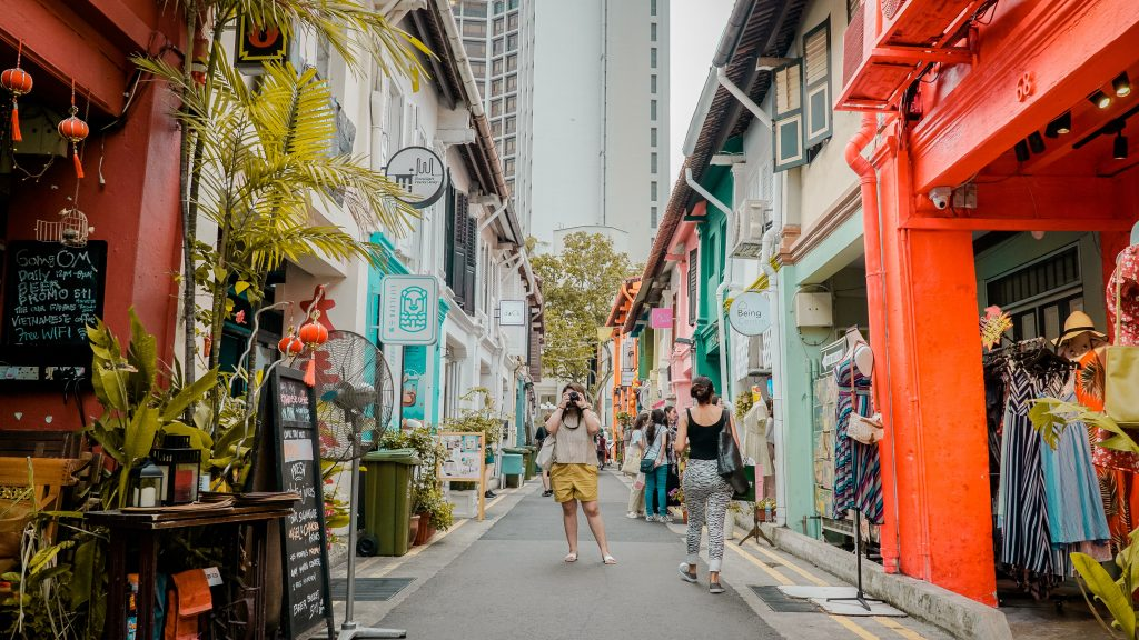 tourist in singapore
