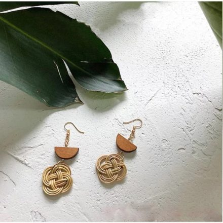 wicker drop earrings