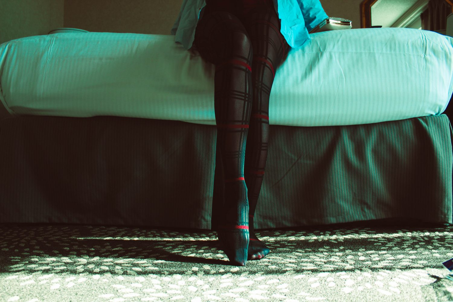 stockings on a womans legs